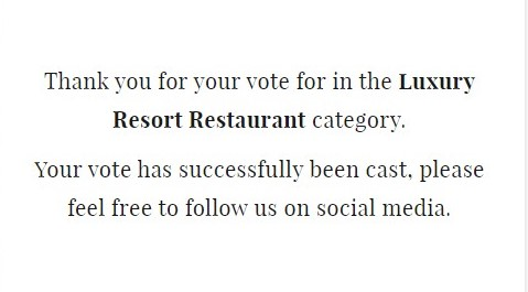 2020 World Luxury Awards 投票をお願いします 9